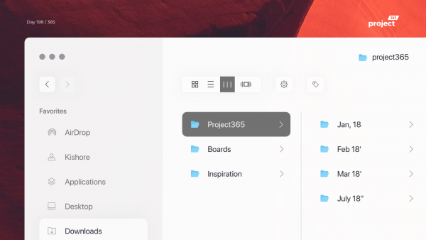 Day 198 – MacOS Finder Redesign Concept
