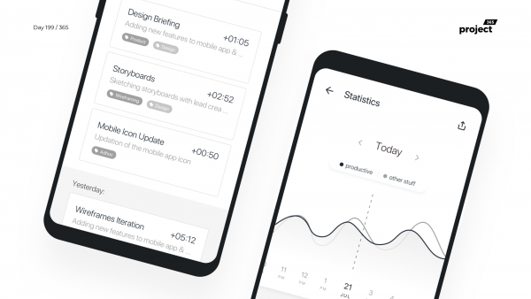 Day 199 – Time Tracker App Wireframe