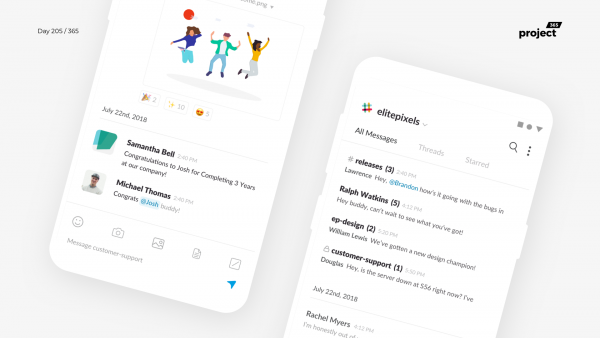 Day 205 – Slack Mobile App Redesign Concept