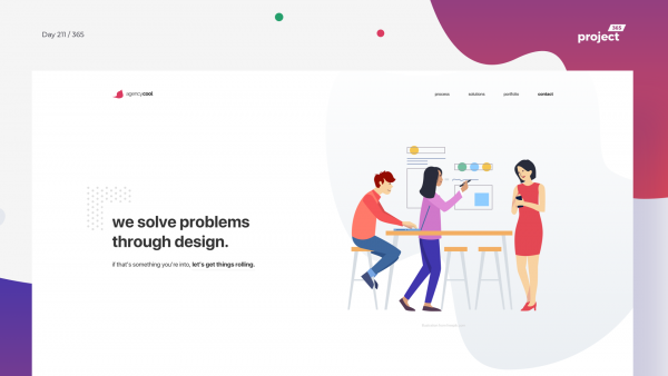 Day 211 – Design Agency Website Concept