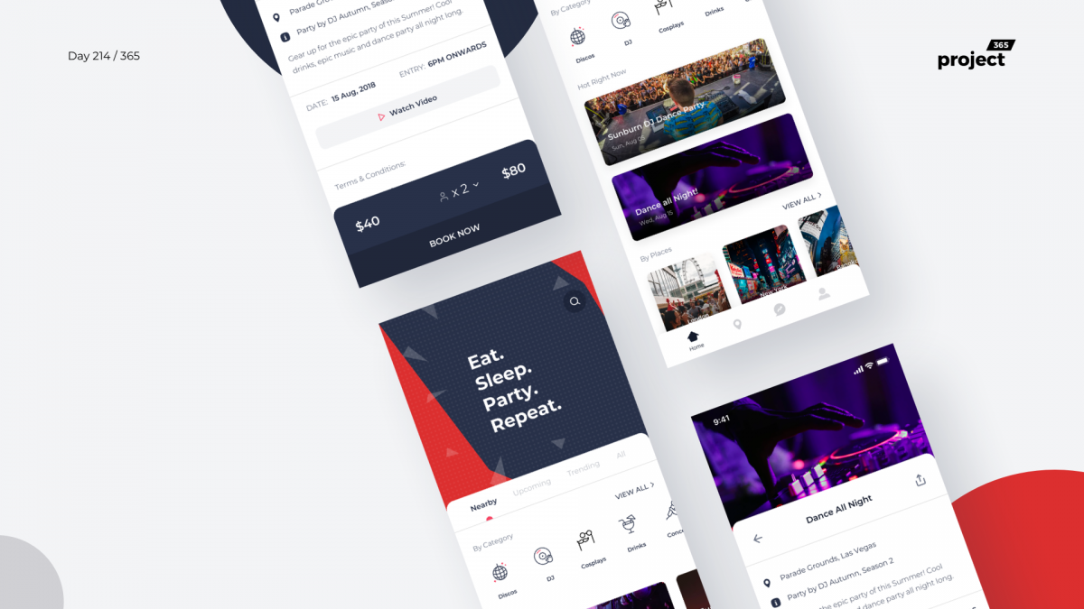 Day 214 – Parties & Events Finder App Concept