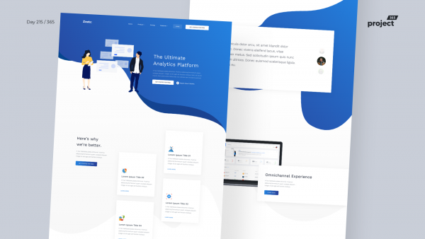 Day 215 – SaaS Analytics Landing Page Freebie