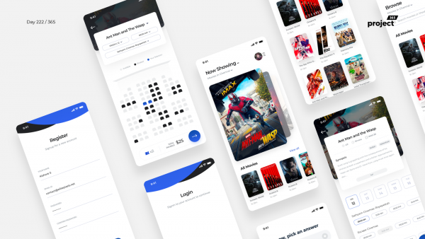 Day 222 – Movie Booking App iOS – Sketch Freebie