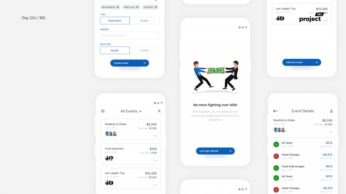 Day 224 – Split Bill & Financial Tracker App Concept
