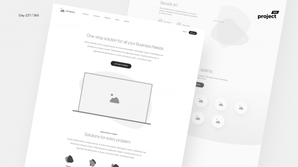 Day 227 – CRM Product Landing Page Wireframe