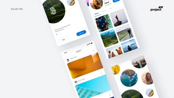 Day 233 – 500px Mobile App Redesign Concept