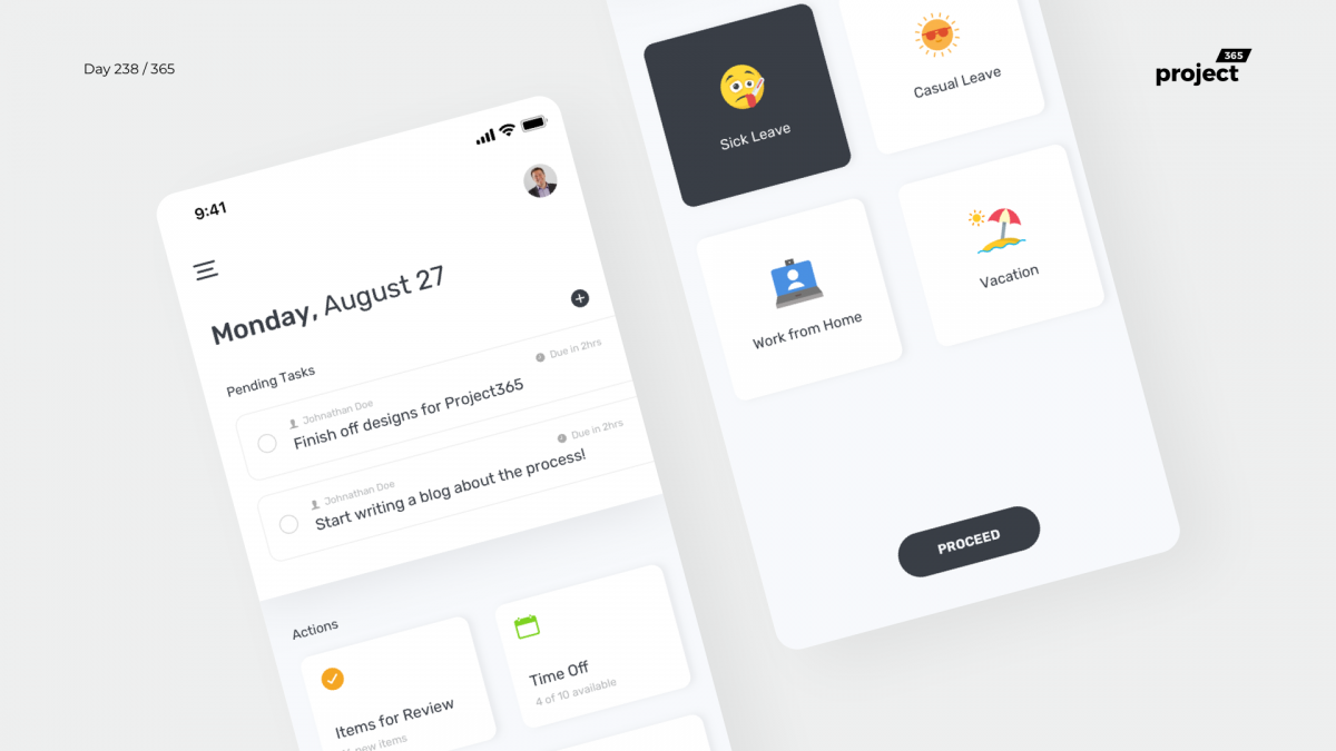 Day 238 – Office – Workspace Dashboard App Concept