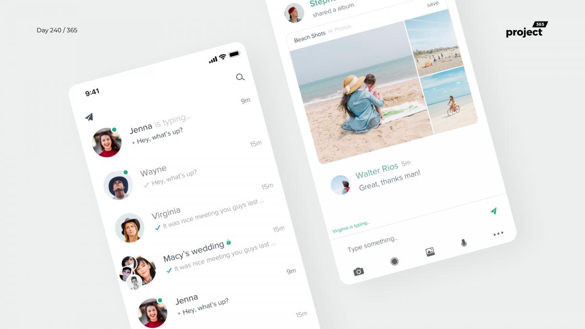 Day 240 – Telegram App Redesign Concept