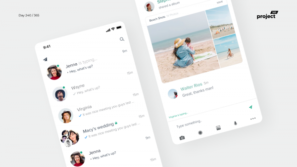 Day 240 – Telegram App Redesign Concept