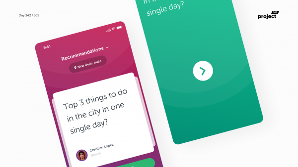 Day 242 – CommunityAsk – Local Recommendations App Concept