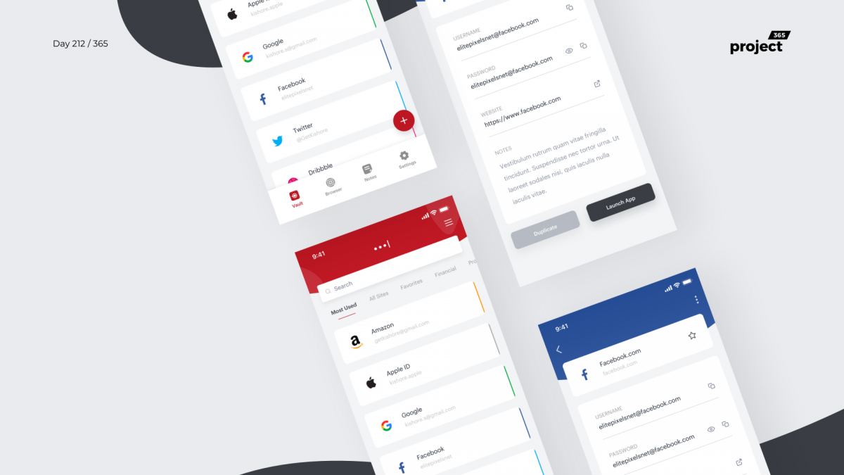 Day 212 – LastPass Mobile App Redesign