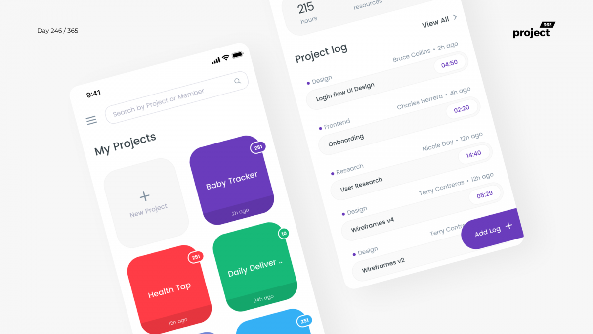 Day 246 – Minimal Project Management App Concept