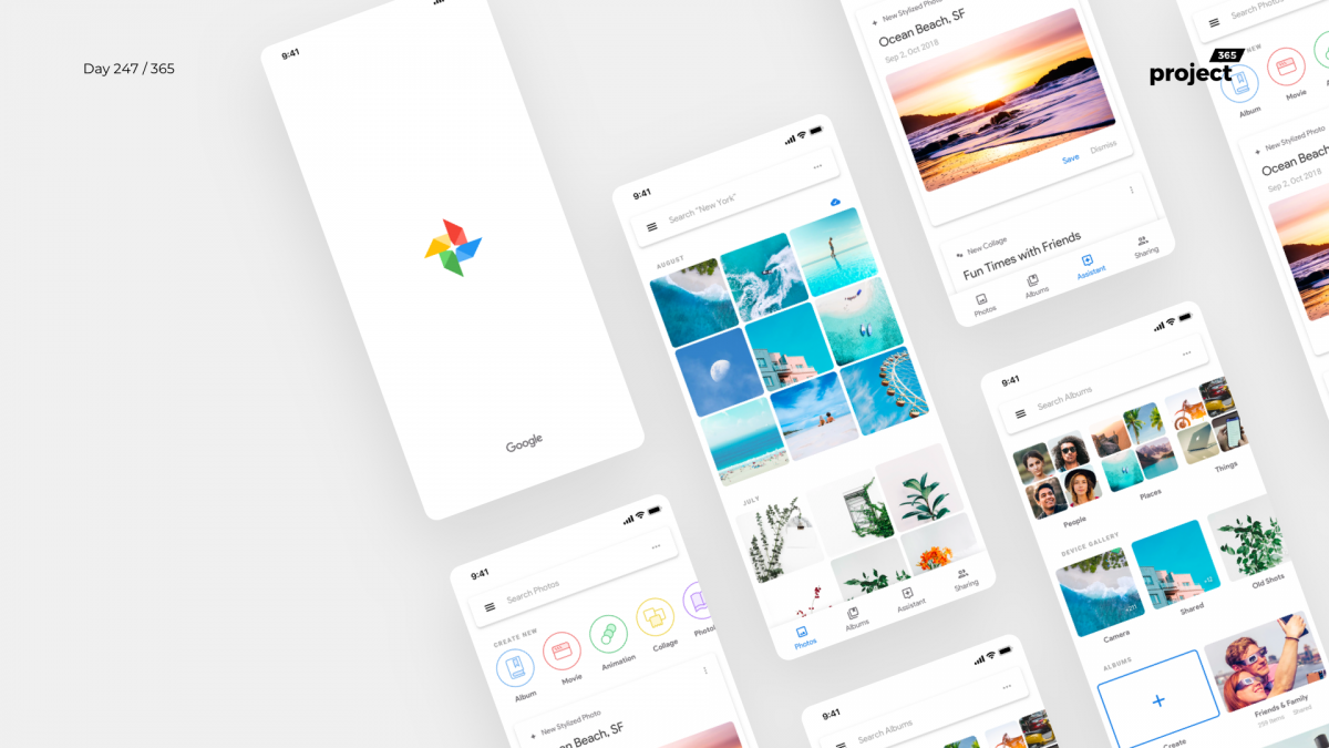 Day 247 – Google Photos App – Material 2.0 Redesign Concept