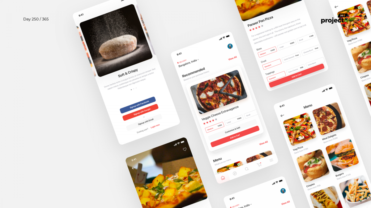 Day 250 – Pizza Delivery App – Sketch Freebie