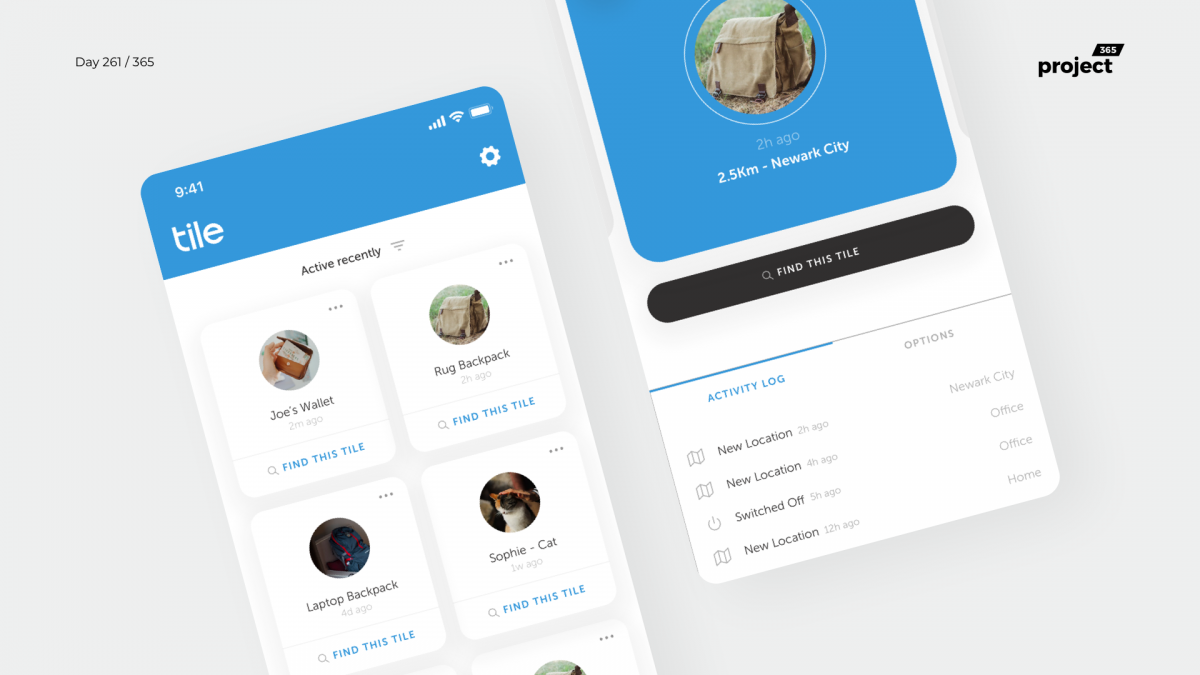 Day 261 – Tile Mobile App Redesign Concept