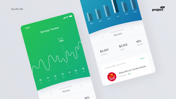 Day 293 – Savings Tracking App Concept