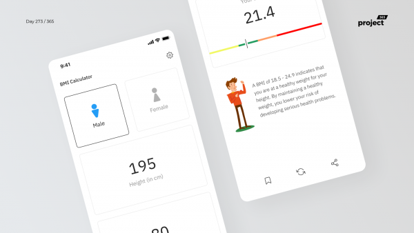 Day 273 – BMI Calculator App Concept