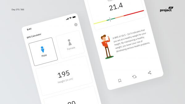 Day 273 – BMI Calculator App Concept