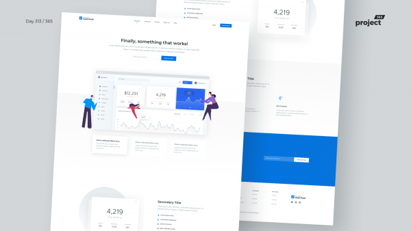 Day 313 – SaaS Product – Landing Page Freebie