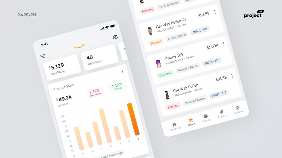 Day 317 – Amazon Seller App Redesign