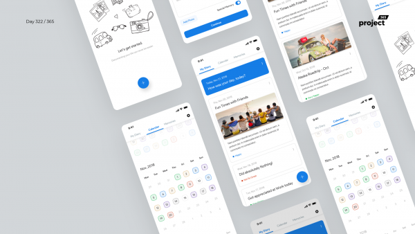 Day 322 – Daily Mood Diary App Concept