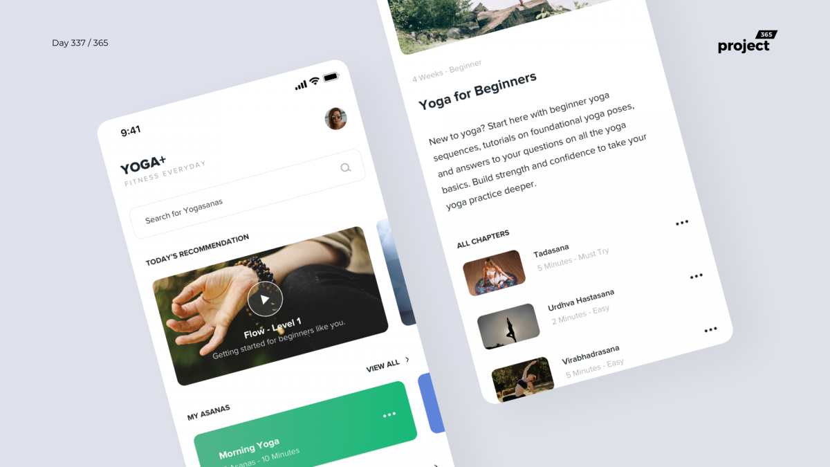 Day 337 – Yoga – Learning App Concept