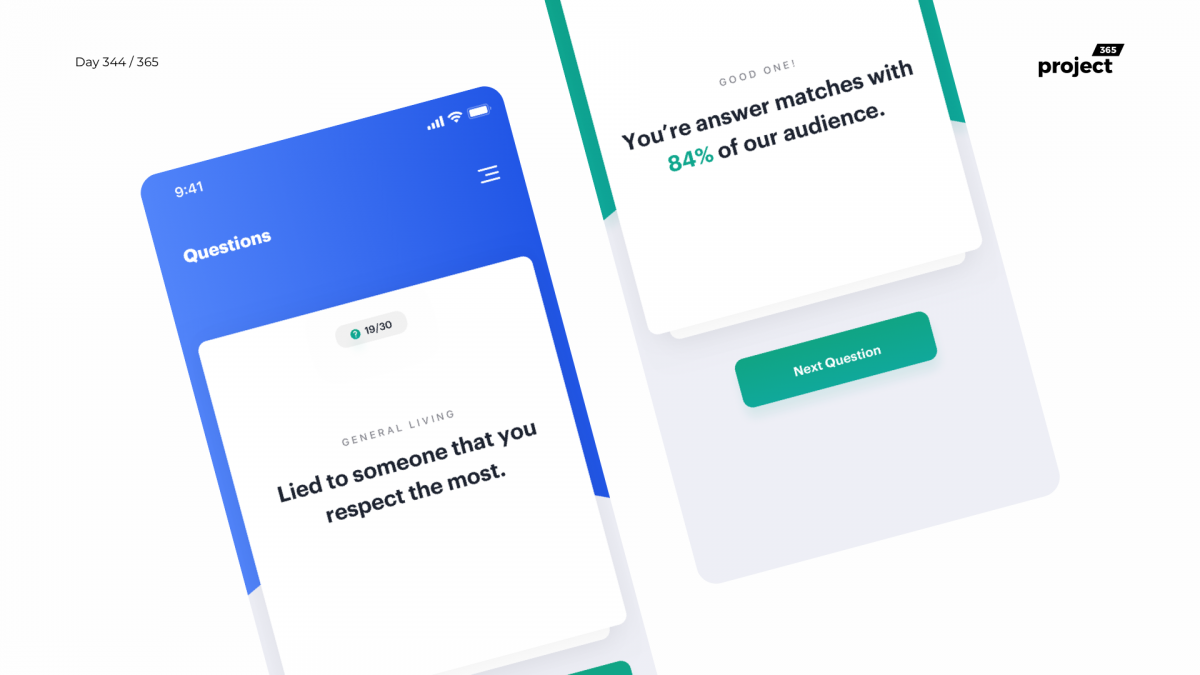 Day 344 – Yes Or No – App Concept