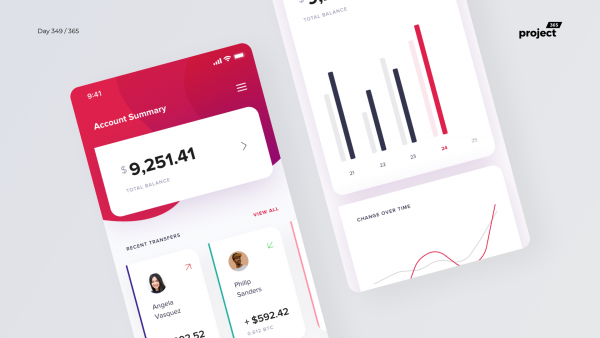 Day 349 – Crypto Wallet Dashboard Mobile