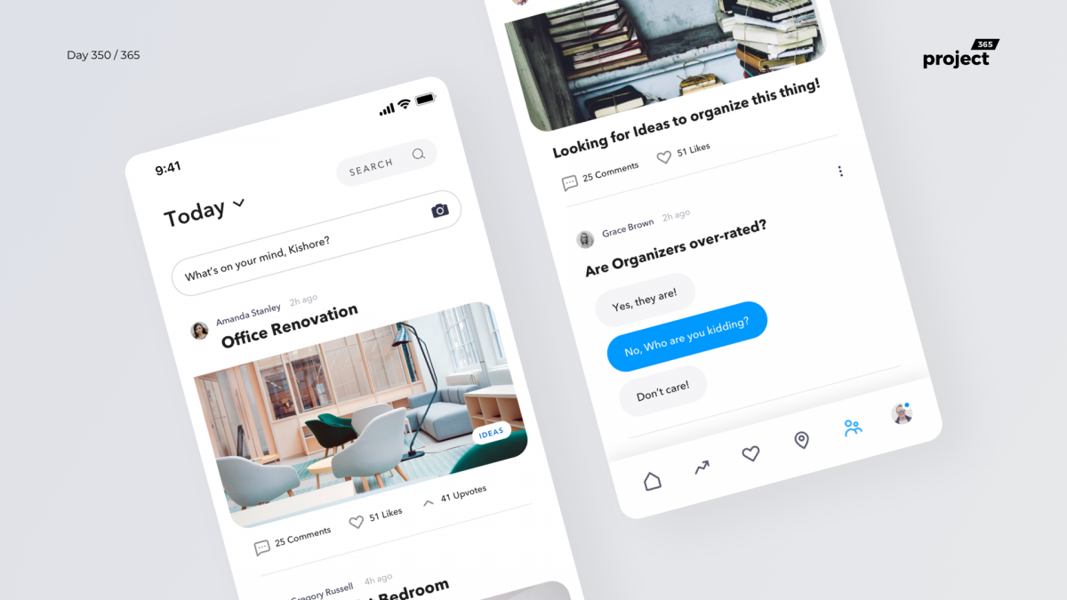 Day 350 – Interior Design Social App