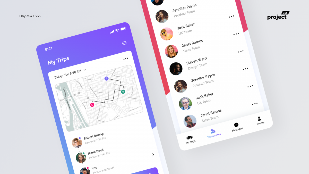 Day 354 – Carpooling Coworkers App