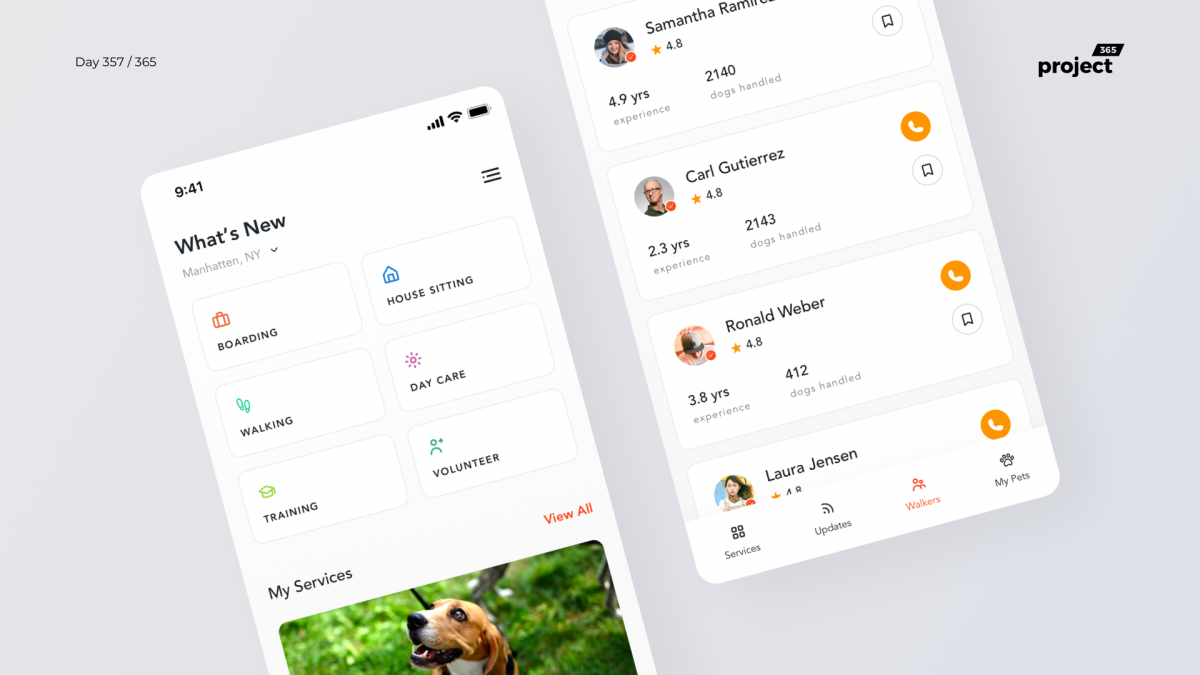 Day 357 – Dog Sitters App Concept