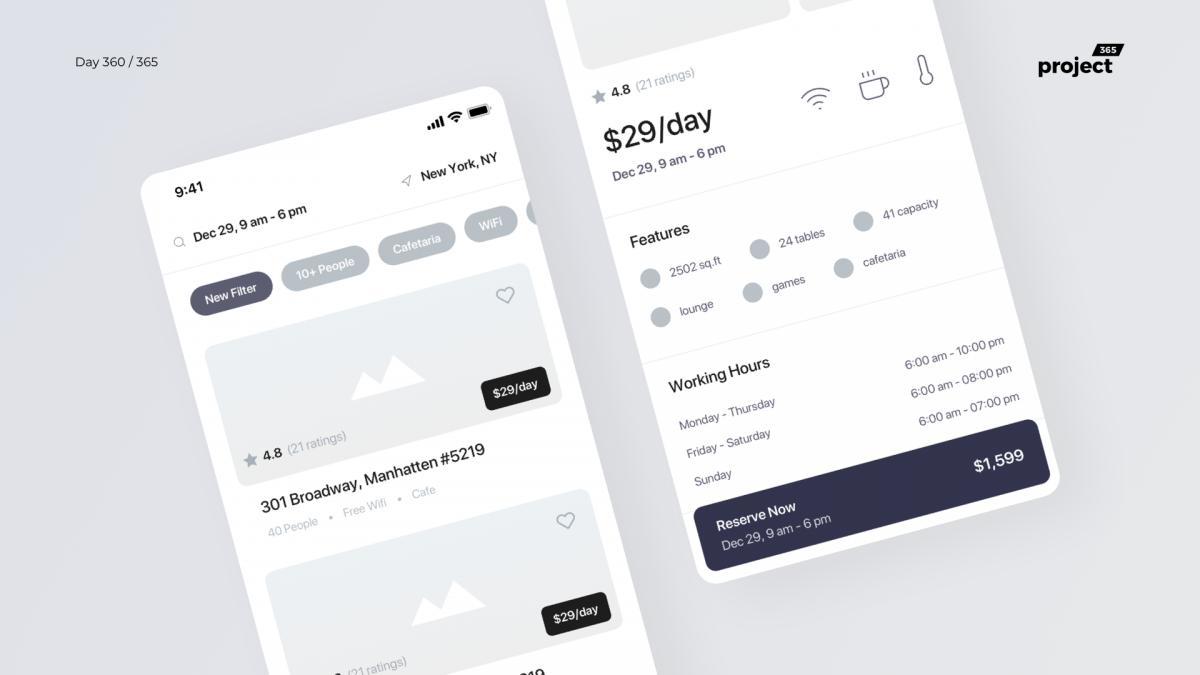 Day 360 – Fun Workspaces Finder App