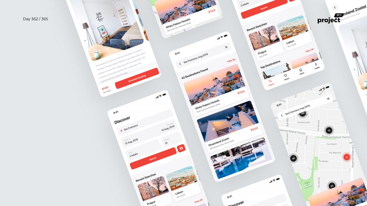 Day 362 – Hostel Booking App – Freebie